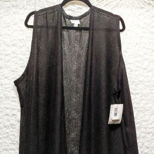 Lularoe Joy, black lace, 2XL
